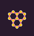 graphene icon atomic carbon structure vector image vector image