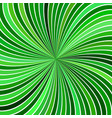 green hypnotic abstract spiral ray stripe vector image vector image
