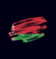 grunge textured belarusian flag vector image vector image