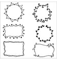 hand drawn elements flowers set of doodle frames vector image