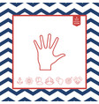 helping hand - line icon vector image vector image