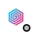 Hex spiral colorful logo vector image vector image