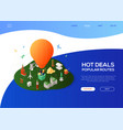 hot deals popular routes - colorful isometric web vector image vector image