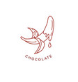 icon and logo for chocolate and sweet vector image vector image