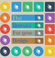 icon world sign Set of twenty colored flat round vector image vector image