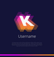k-monogram-logo vector image