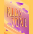 kids zone playground concept banner cartoon style vector image vector image