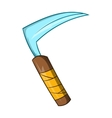 Kusarigama ninja weapon icon cartoon style vector image vector image