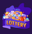 lottery and bingo concept vector image vector image