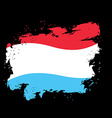 Luxembourg flag grunge style on black background vector image