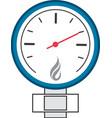 manometer or pressure gauge icon vector image