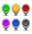 Map markers 3 vector image vector image