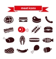 meat icons vector image