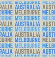 melbourne australia seamless pattern vector image vector image
