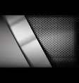 metallic steel and honeycomb element background vector image vector image