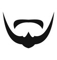mustache icon simple style vector image vector image