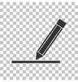 Pencil sign Dark gray icon on vector image