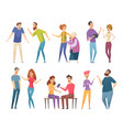 people talking conversation crowd communication vector image vector image