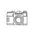 photo camera doodle icon hand drawn icon photo vector image