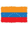 pixelated flag of venezuela vector image