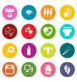 pregnancy icons set colorful circles vector image vector image