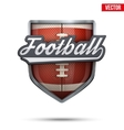 Premium symbol of American Football label vector image vector image