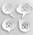 Push-button telephone White flat buttons on gray vector image vector image