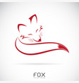 red fox design on white background vector image vector image