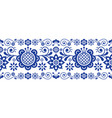 scandinavian folk art retro long pattern vector image vector image