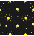seamless pattern with shining bulbs on simple vector image vector image