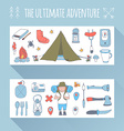 Set of doodle adventure banners vector image vector image