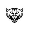 simple wild cat logo vector image vector image