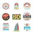 Summer sales labels vector image vector image
