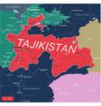 tajikistan country detailed editable map vector image vector image