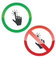 Touch permission signs set vector image vector image
