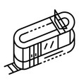 tramway icon outline style vector image