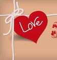 Valentine card retro vector image vector image