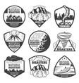 vintage monochrome natural disaster labels set vector image vector image