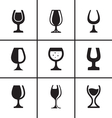 Wineglass icons set vector image