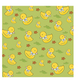 seamless background with rubber duck vector image