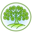 nature and environment icon with tree vector image