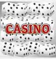 casino dice set vector image