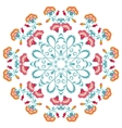 Abstract floral round ornament mandala with vector image vector image