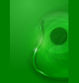 Abstract Guitar Green Background vector image vector image