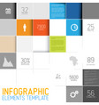 abstract squares background infographic template vector image