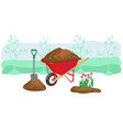 agriculture outdoor seasonal work equipment vector image vector image
