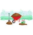 agriculture outdoor seasonal work equipment vector image