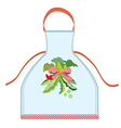 Apron design with pea pod vector image vector image