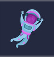 astronaut character spaceman flying in space vector image