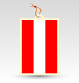 austrian flag made in tag vector image vector image